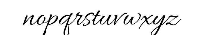 Allura Font LOWERCASE