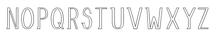 Allusion Outlined Font UPPERCASE