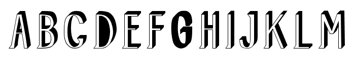 AllusionShadow Font UPPERCASE