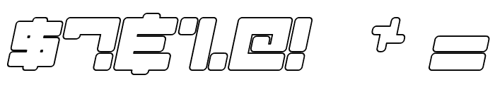 Almanaque Outline Italic Font OTHER CHARS