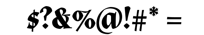 Almendra Bold Font OTHER CHARS