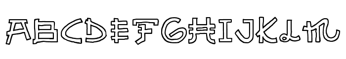 Almost Japanese Cartoon Font UPPERCASE