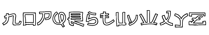 Almost Japanese Cartoon Font LOWERCASE