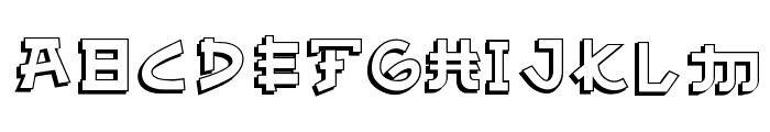 Almost Japanese Comic Font UPPERCASE