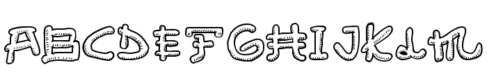 Almost Japanese Smooth Font UPPERCASE