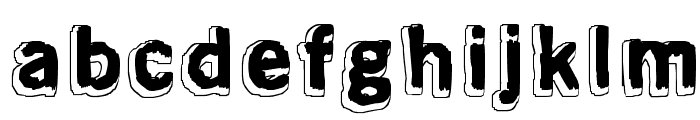 Almost like the blues Font LOWERCASE
