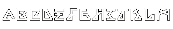 Alpha Outline Font UPPERCASE