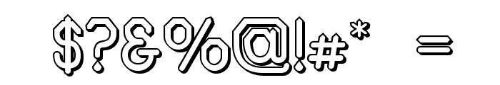Alpha Romanie Outline G98 Font OTHER CHARS
