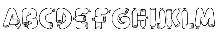 Alpha Sausage Font UPPERCASE