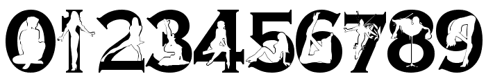 Alpha Silouettes 3   Font OTHER CHARS