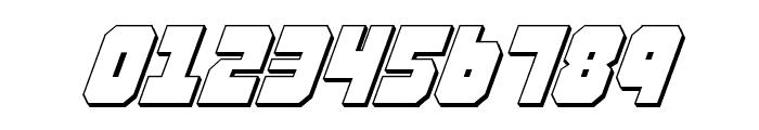 Alpha Taurus 3D Italic Font OTHER CHARS