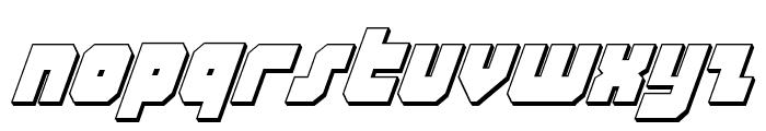 Alpha Taurus 3D Italic Font LOWERCASE