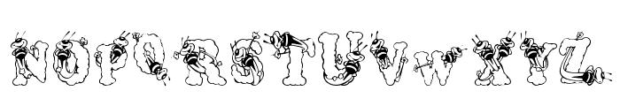 AlphaBizzyBee Font UPPERCASE