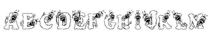 AlphaBizzyBee Font LOWERCASE