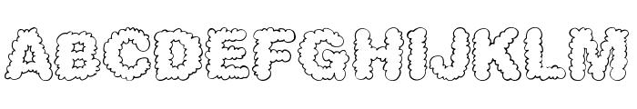 AlphaClouds Font UPPERCASE