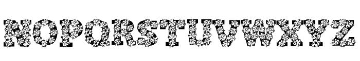 AlphaFlowers Font UPPERCASE
