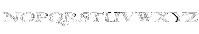 AlphaRev Hollow Font UPPERCASE
