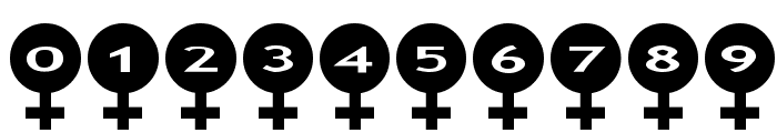 AlphaShapes female Font OTHER CHARS