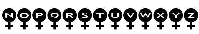 AlphaShapes female Font LOWERCASE