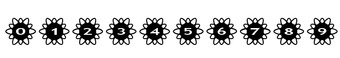 AlphaShapes flowers 2 Font OTHER CHARS