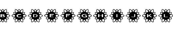 AlphaShapes flowers 2 Font LOWERCASE