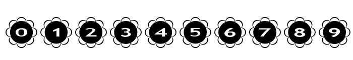 AlphaShapes flowers Font OTHER CHARS