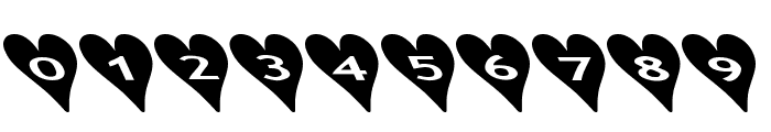 AlphaShapes hearts 2b Font OTHER CHARS