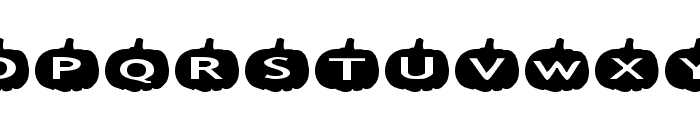 AlphaShapes pumpkins Font LOWERCASE