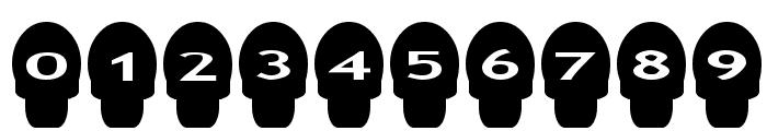 AlphaShapes skulls Font OTHER CHARS