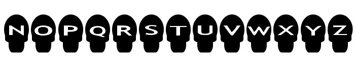 AlphaShapes skulls Font LOWERCASE