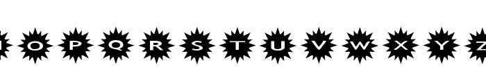 AlphaShapes sunshine Font LOWERCASE