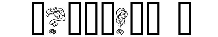 AlphaWomanHair Font OTHER CHARS