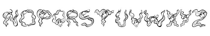 AlphaWomanHair Font LOWERCASE