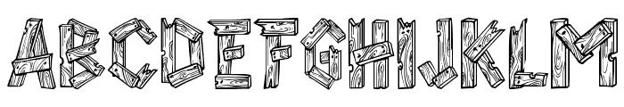 AlphaWood Font UPPERCASE