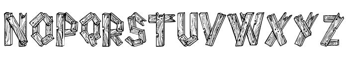 AlphaWood Font LOWERCASE