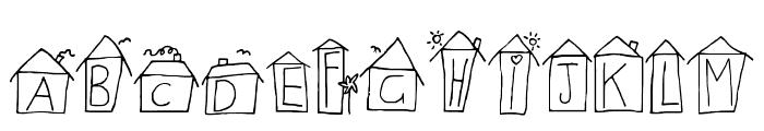 Alphabet Houses Regular Font UPPERCASE