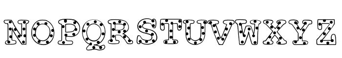 AlphabeticSprinkles Font UPPERCASE