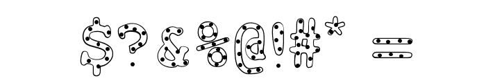 AlphabeticSprinklesLight Font OTHER CHARS