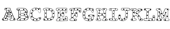 AlphabeticSprinklesLight Font UPPERCASE