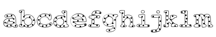 AlphabeticSprinklesLight Font LOWERCASE