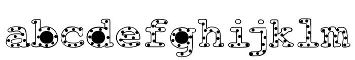 AlphabeticSprinkles Font LOWERCASE