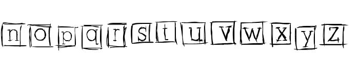 AlphabitsSquared Font LOWERCASE