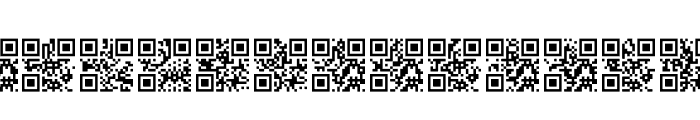 AlphanumericQR Space Font UPPERCASE