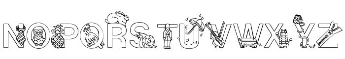 Alphapix Font UPPERCASE