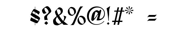 Alpine Regular Font OTHER CHARS