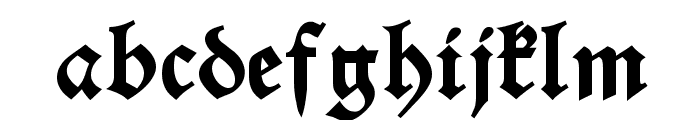 Alte Schwabacher DemiBold Font LOWERCASE