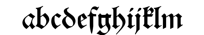 Alte Schwabacher OSF Font LOWERCASE