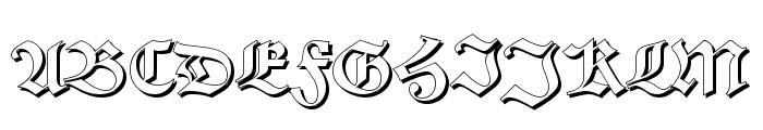 Alte Schwabacher Shadow Font UPPERCASE