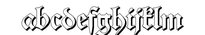 Alte Schwabacher Shadow Font LOWERCASE