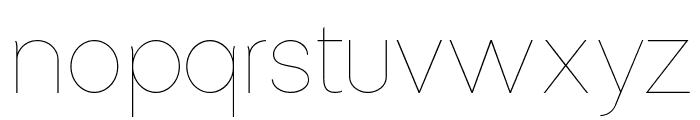 Altera - Regular Font LOWERCASE